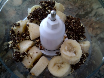 Bananas & Fudge bites ready to be soft-served!