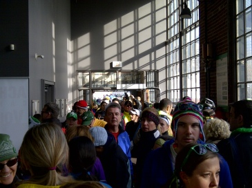 Huge crowd inside Steam Whistle Brewery