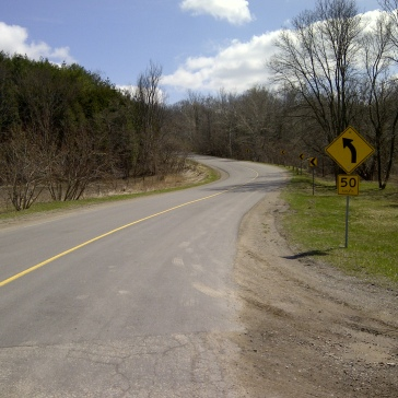 1st hill section - winding