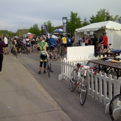 Hanging out at the start