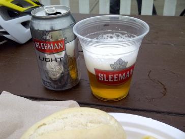 Post-ride Lunch: Pasta+Beer