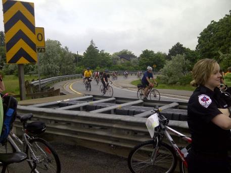 Riders approaching Turnaround