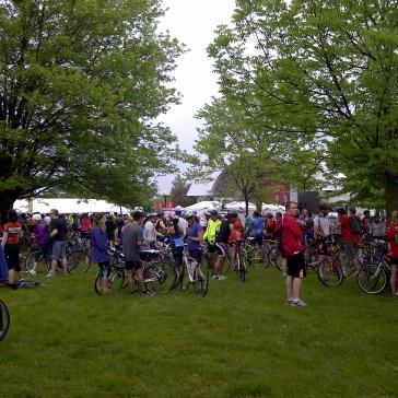 Finish area at Bandshell Park