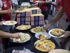Lunch (salad, fruit)