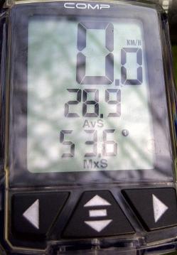 2nd Stop: avg 28.9kph@53.6km