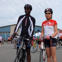 Garry and I at the start