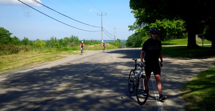 Riders coming up from Effingham hill